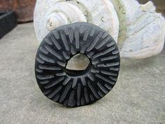 Black Carved Tribal Artisan Polymer Focal by SLArtisanAccents, $16.00