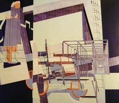 Peter Eisenman / Wexner Center, at Ohio State University, Columbus, Ohio, 1983 to Urban Architecture, Architecture Drawings, Architecture Models, Peter Eisenmann, Bernard Tschumi, Model Sketch, Constructivism, Tumblr, Deconstruction