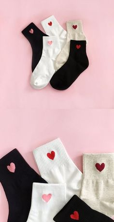 Popular Korean Accessories and Hairstyles in Korea Heart rings Heart fashion socks Cute cactus nails Studded . Funky Socks, Cute Socks, Korean Socks, Korean Accessories, Korean Fashion Trends, Fashion Ideas, Look Vintage, Happy Socks, Fashion Socks