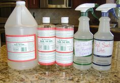 DIY Sal Sud washing up liquid. Diluted - 0.5 cup/120 ml of Sal Suds with 1 quart/940 ml of water. Undiluted - 0.5 tsp in large bowl of water