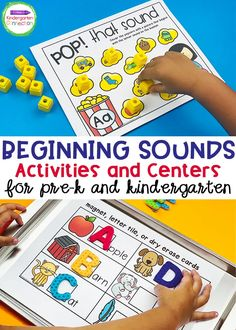 Beginning Sound Activities and Centers for Pre-K