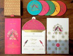 peacock themed invitation cards