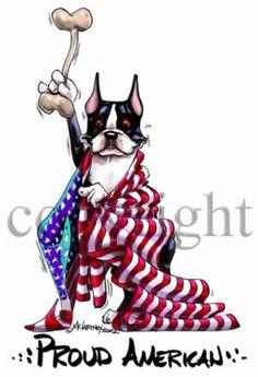 Boston Terrier Proud American