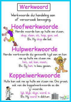 Image result for byvoeglike naamwoorde examples Elementary Education, Kids Education, Preschool Learning, Fun Learning, School Resources, Teaching Resources, Afrikaans Language, Parts Of Speech, School Subjects
