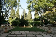 Lebanon, Ashfrfieh, Sursock Palace: part of the garden (Beirut)
