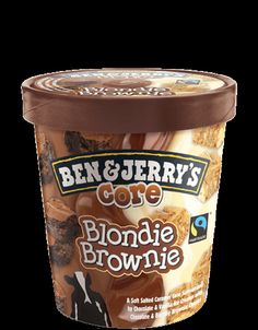 Did you know Ben & Jerry's is fair trade certified? Next time you reach for a carton of ice cream on a bad day make sure it's them and support Ben & Jerry's Core Blondie Brownie Ice Cream Menu, Yummy Ice Cream, Best Ice Cream, Ice Cream Desserts, Ice Cream Flavors, Ben Et Jerrys, Ben Und Jerry, Chocolates, Delicious Desserts