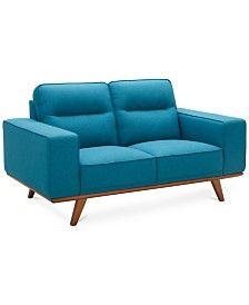 Living Room, Fabric loveseat - Macy's