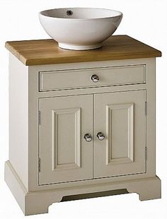 Neptune - Chichester 640mm Oak Countertop Washstand. Click for larger image