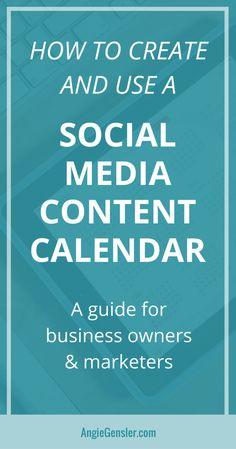 Social Media Content Calendar - PIN