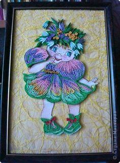 Картина панно рисунок Квиллинг Веснянка Бумага фото 1