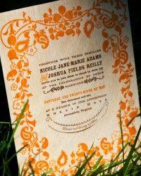 Nikki + Josh's Balsa Wood Wedding Invitations