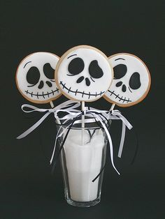 Cookie Lollies:: My son loves 'The Nightmare Before Christmas' I plan on making some of these for his class this Halloween. :)