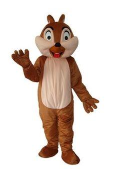 Old Squirrel Plush Adult Mascot Costume
