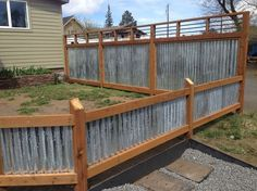 25+ best ideas about Corrugated metal fence on Pinterest | Wood ...