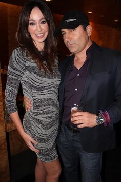 Melanie Mar and George at LA Fashion Mag Oct Issue Party The Thompson in Beverly Hills