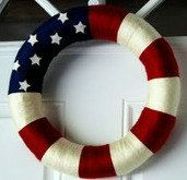 Great Wreath for all patriotic days - $35 by Miranda Bateson on Etsy