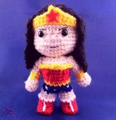 Wonder Woman Chibi Inspired Amigurumi by AmiAmaLilium.deviantart.com on @DeviantArt
