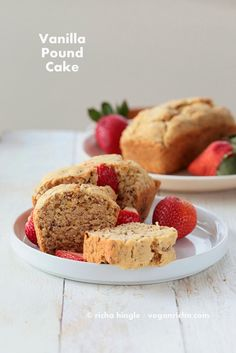 Mini Vanilla Pound Cake Loafs. Vegan Soy-free Recipe | Vegan Richa