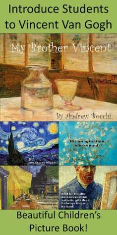Using Vincent Van Gogh's artwork as the background of each page, this story tells the story of his life through the lens of his brother Theodore Van Gogh.This is the perfect way to introduce your young learners to this fascinating artist and his work!
