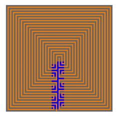 The classical 19 circuit labyrinth