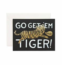 Go Get 'Em Tiger cards