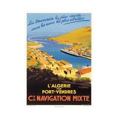 """Affiche ancienne """"Port-Vendres"""""""