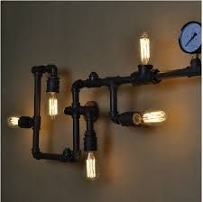 Loft Industrial Wall Lamps Antique Edison Wall lights with Bulbs Vintage Pipe Wall Lamp for Living Room Lighting 5316576 2017 – Candle Sconces, Wall Sconces, Wall Lamps, Tv Wall Design, Wall Lights, Ceiling Lights, Living Room Lighting, Barn Wood, Wood Wall