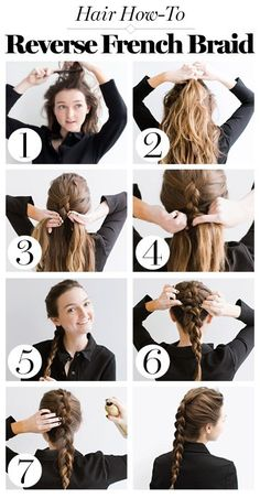 Glamour | Inverse | FrenchBraid | Hair | Trends | Reverse | Braid