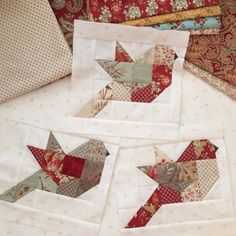 bird quilt Moda Strawberry Fields