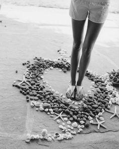 Shells photography black and white summer beach girl feet seashells nautical