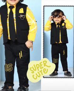 Kids dresses Kids Wear Boys, Kids Party Wear, New Designer Dresses, Baby Boy Dress, Stylish Boys, Summer Boy, Boys Shirts, Baby Design, Boy Outfits