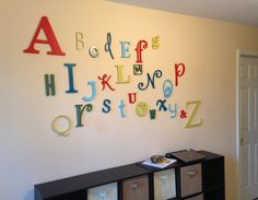 $74.99 Etsy SALE PAINTED Alphabet Set 1/2 thick Birch PAINTED by SarasCuts