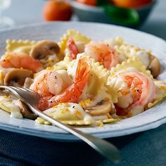 BUITONI Orange Shrimp and Mushroom Pasta