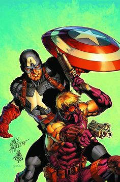 Ultimate Captain America & Hawkeye by Carlos Pacheco