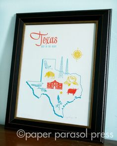 Hey @Jordan Greene and @Dionne Ukleja, this is for you. Apparently they make lots of cute Texas-themed prints.