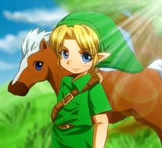 Epona and Young Link - the legend of zelda Fan Art