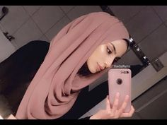 Easy Hijab Style for 2018! | Chiffon Scarf Tutorial - YouTube