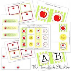 Apple of Our Eye | Baby Shower concepts | Creative Juice: {FREE printables} last min back to school round up