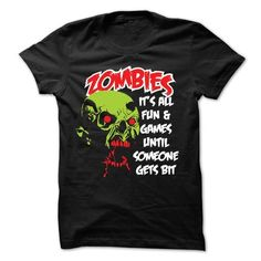 Zombies It's all fun and games T-Shirt Hoodie Sweatshirts oiu. Check price ==► http://graphictshirts.xyz/?p=61330