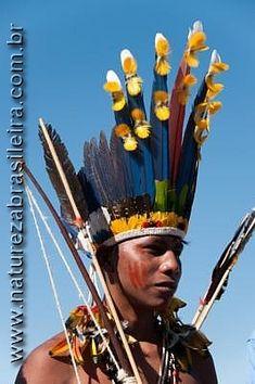Índio Paresí - Etnia Paresí - Aldeia Quatro Cachoeiras - Terra Indígena Utiariti - Campo Novo dos Parecis - MT