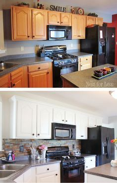 painting cabinets white before and afterHow I transformed my kitchen with paint  Kitchens House and Flipping