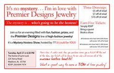 Fun Mystery Hostess invitation idea