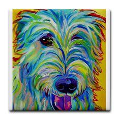 Rainbow Dog Painting Prints - Irish Wolfhound - Angus Print by Alicia VanNoy Call Irish Wolfhound Dogs, Rainbow Dog, Call Art, Animal Paintings, Easy Paintings, Animal Drawings, Dog Portraits, Dog Art, Fine Art America