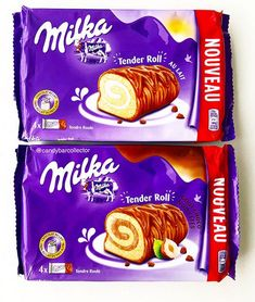 Milka Vanilla and Chocolate Filled Tender Rolls Milka Chocolate, Chocolate Filling, Chocolate Coating, Snack Recipes, Snacks, Vanilla, Chips, Xmas, Cream