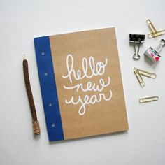 Hello New Year Notebook | Brittany Sazonoff (BSaz Creates) for Silhouette America