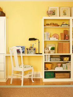 To style a bookcase to perfection, resist the urge to pack in accessories on every shelf: http://www.bhg.com/decorating/storage/shelves/get-picture-perfect-bookshelves/?socsrc=bhgpin100814keepitsimple&page=1