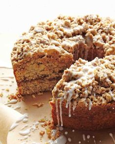 Cinnamon Streusel Coffee Cake Recipe / Made in a 9x13 and baked about 40 minutes