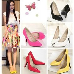 41f8b138482ae8 Goedkope Nieuwe collectie puntschoen vrouwen dunne hoge hakken schoenen