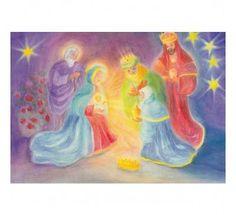 Postkaart De Drie Koningen bij Jezus (Dorothea Schmidt)