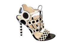 White sandal with black polka dots from Sophia Webster's debut line.